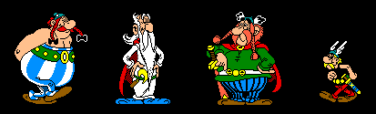Asterix Obelix Panoramix Abraracurcix